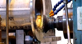 Milling of Flange Face